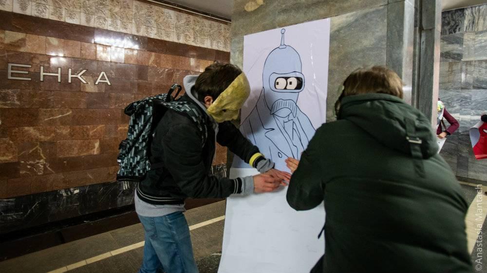 плакаты шевченко в метро