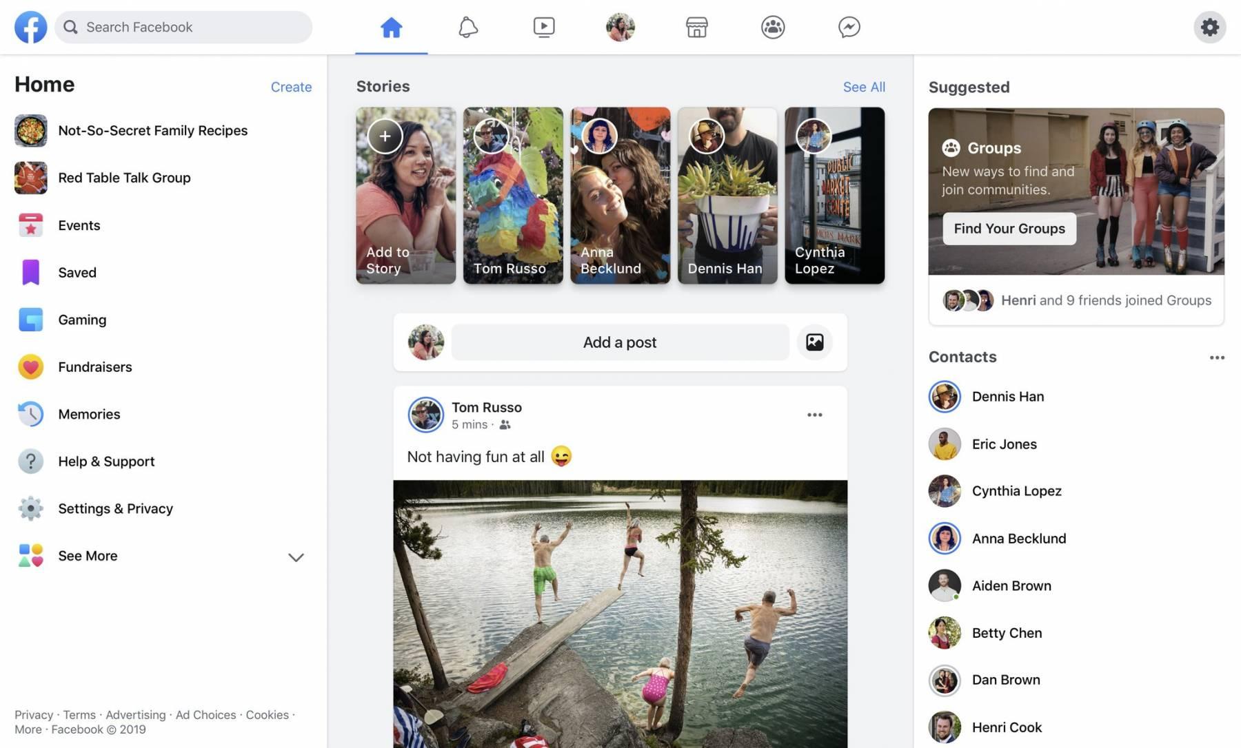 facebook новый дизайн