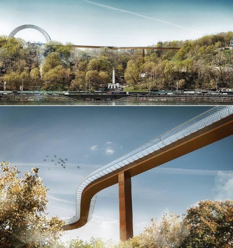 владимирская горка мост
