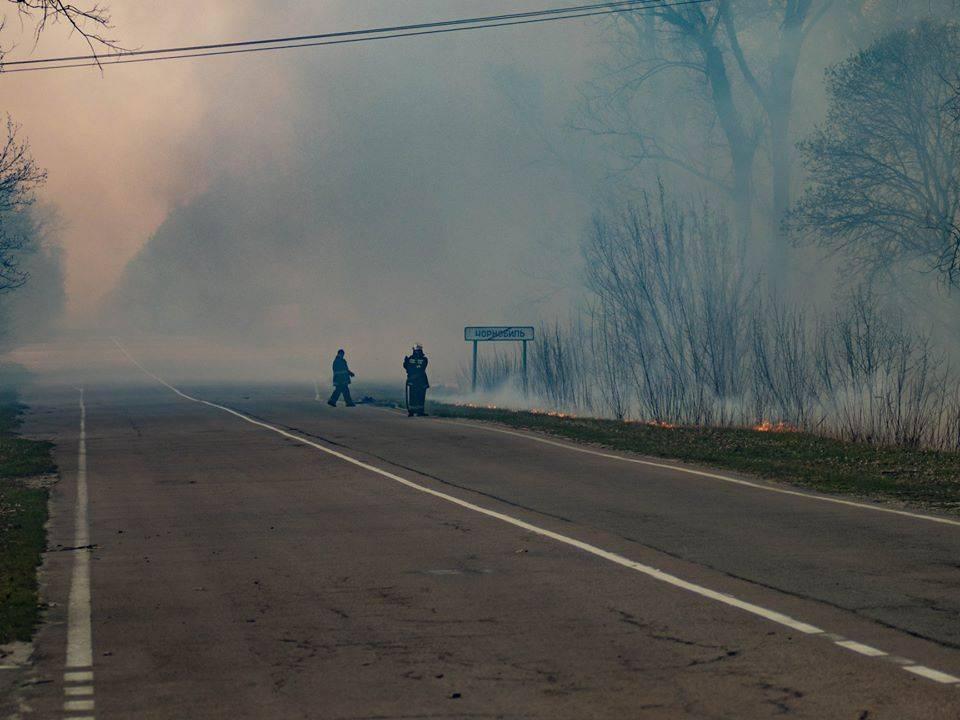 Чернобыль горит лес